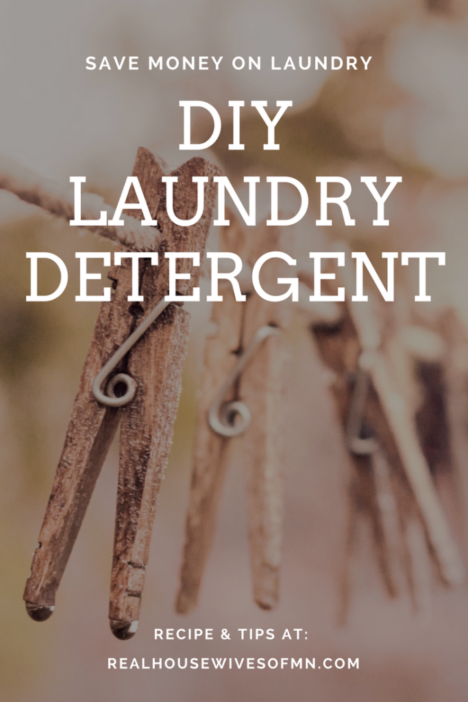 DIY laundry detergent to save money
