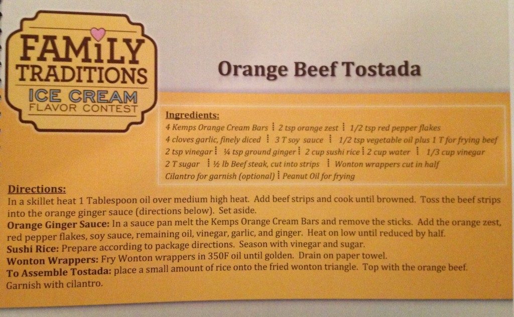 orange beef tostada recipe