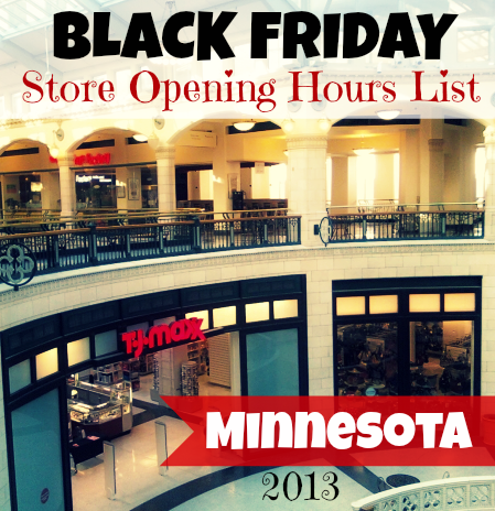 Minnesota Black Friday Store Opening Hours