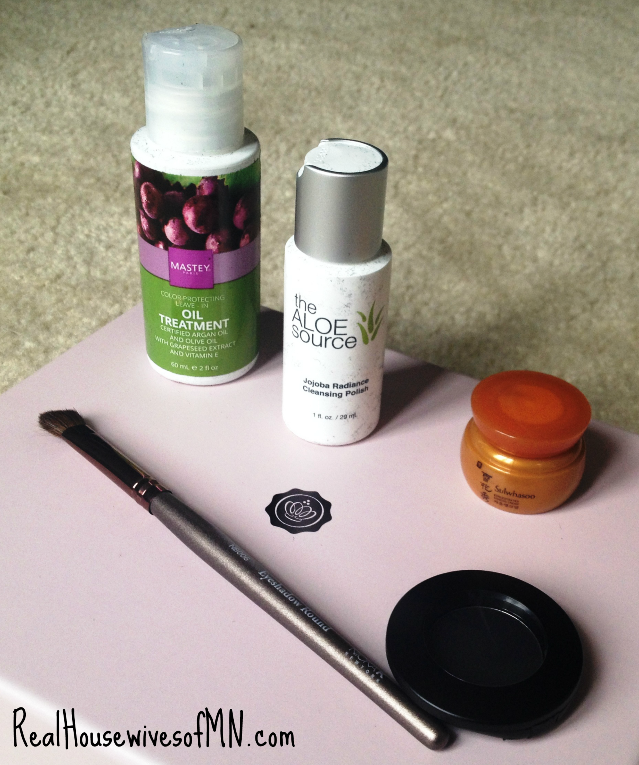 glossybox beauty items close up