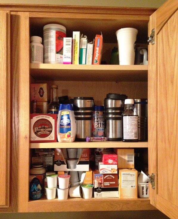 organized cupboard before