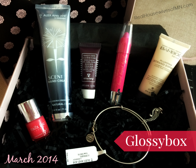 glossybox beauty samples march 2014