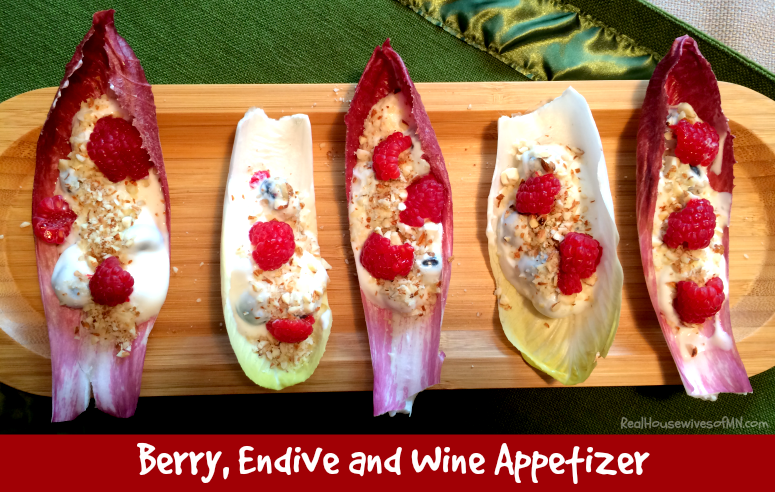 Berry Endive and Wine Appetizer