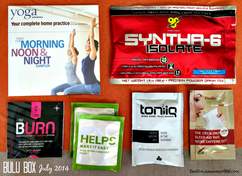 Bulu Box Contents July 2014