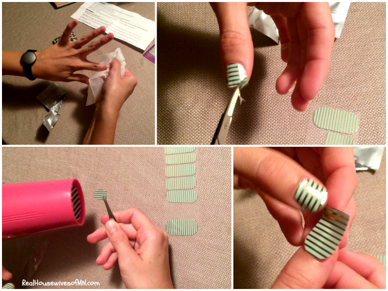 Putting on Jamberry Nails #shop