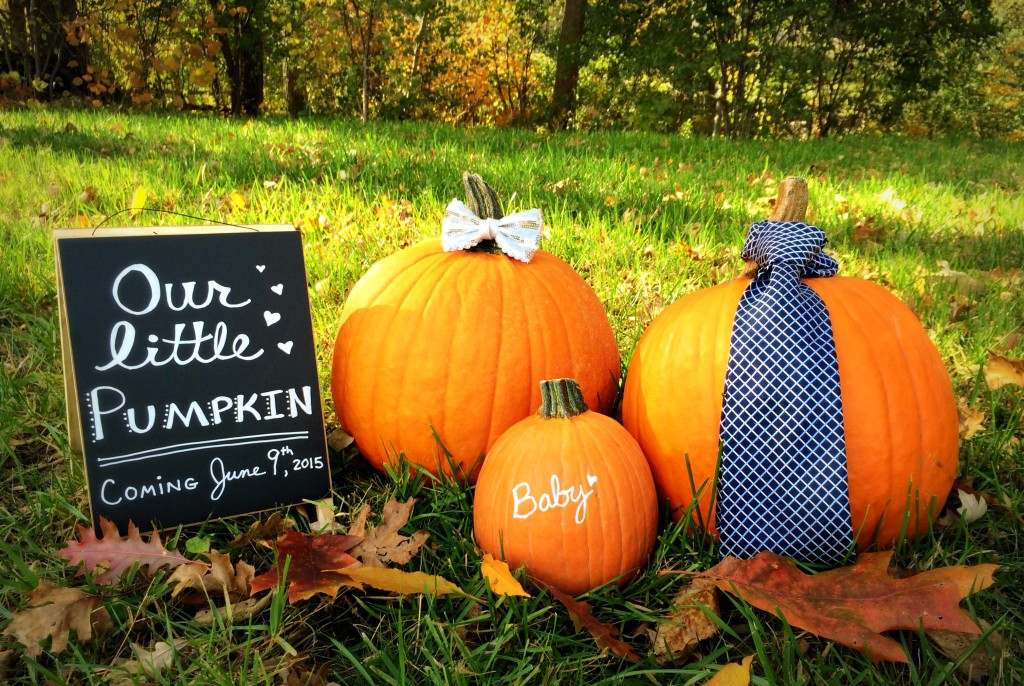 Little Pumpkin baby announcement