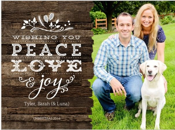 our holiday christmas card
