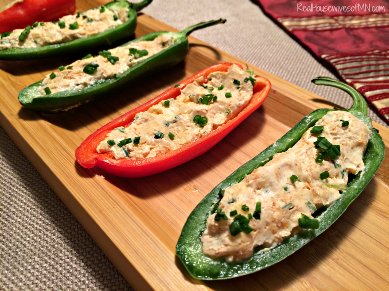 Cheese stuffed mini bell peppers