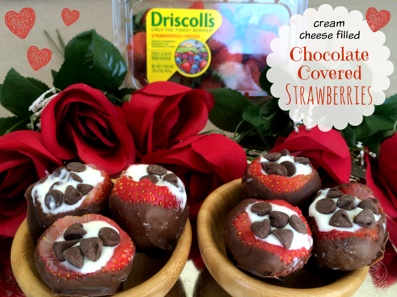 Cream Cheese Filled Chocolate Covered Strawberries Recipe
