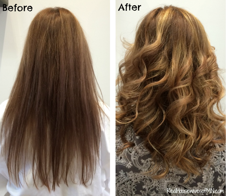 before and after hair cut color