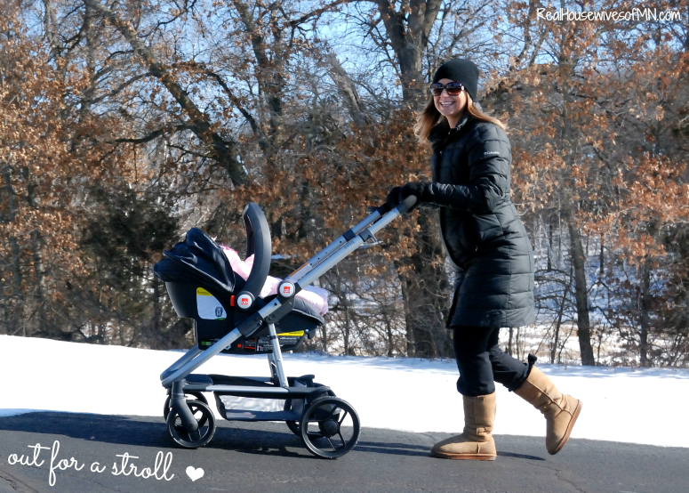 out for a stroll with GB stroller