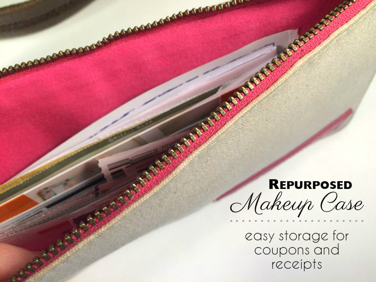 makeup bag makeover for coupons