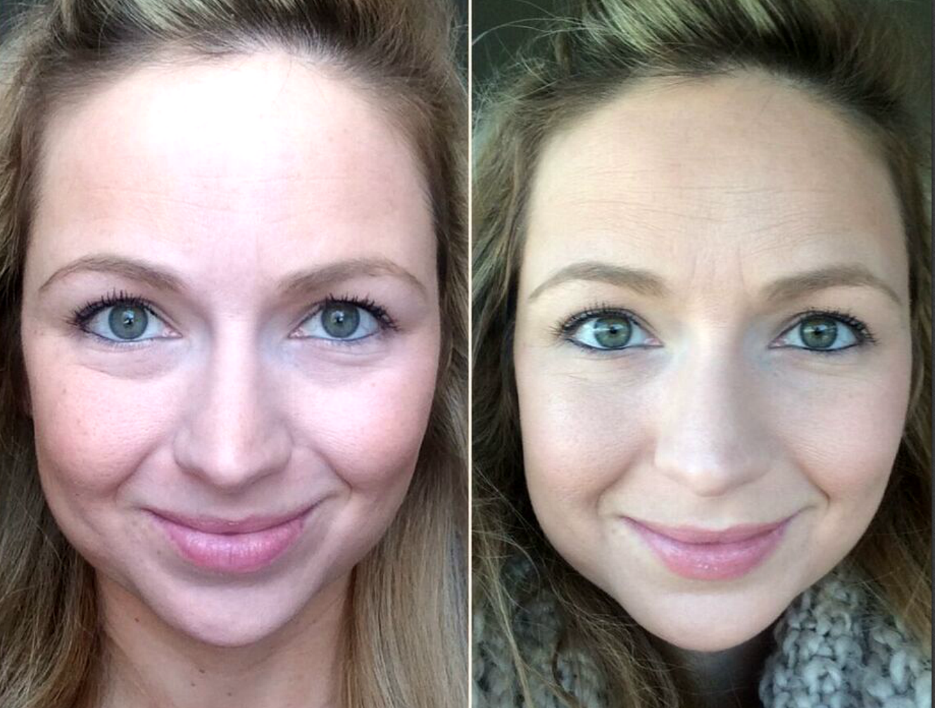 before and after contour makeup #ad