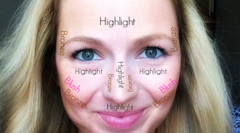 bronze blush highlight guide #ad