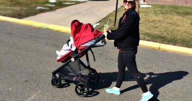 strolling with gb life pram