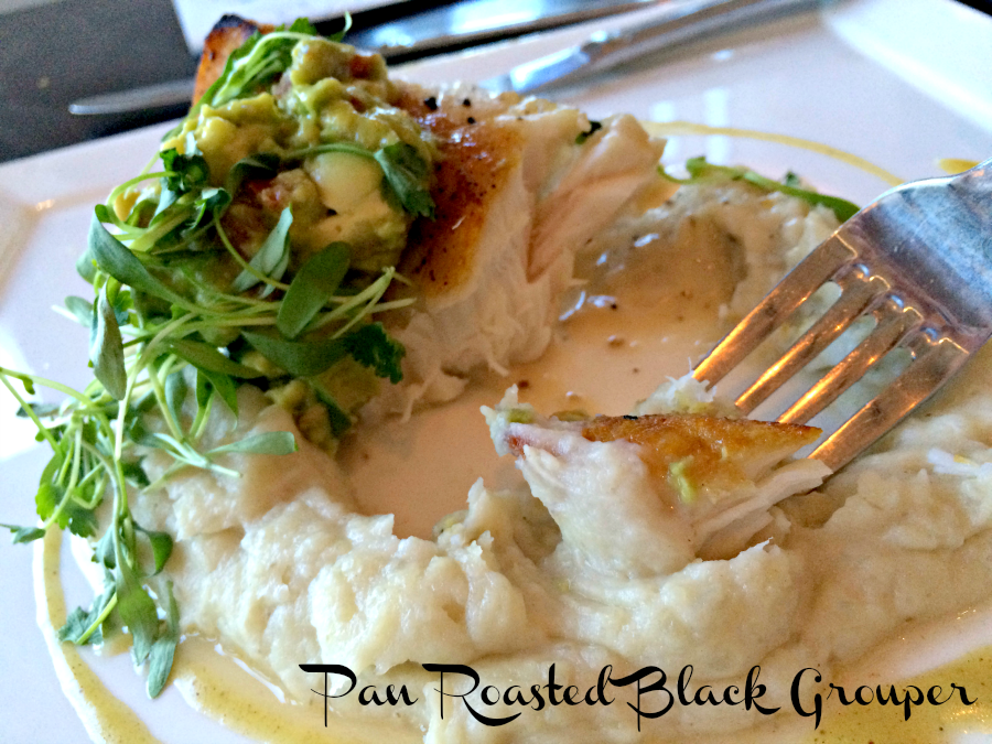 pan roasted black grouper
