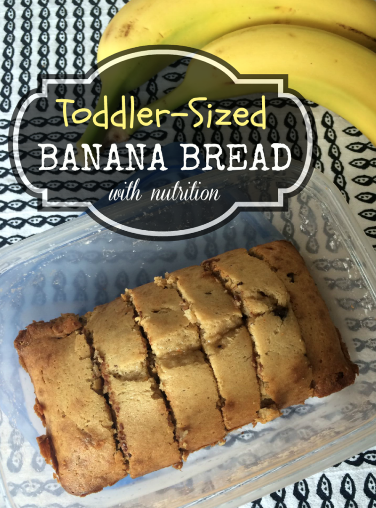 Toddler friendly banana bread with nutrition recipe #ad