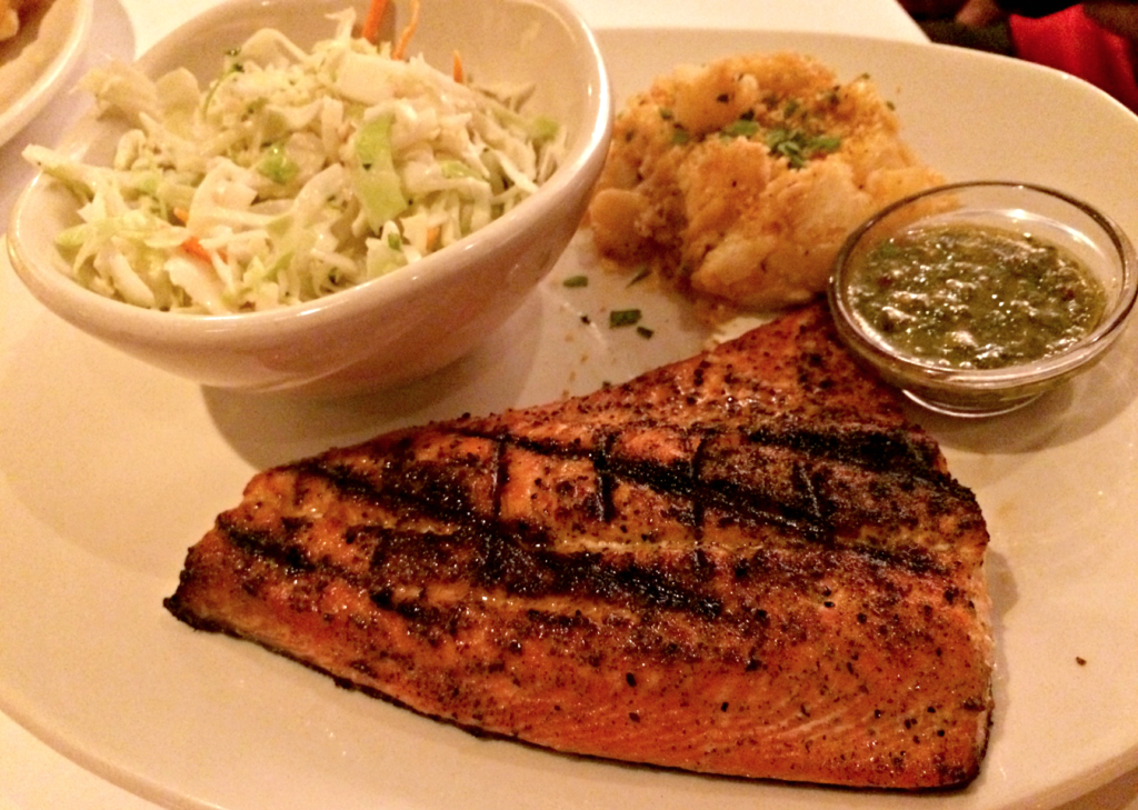 wild salmon summer special at bonefish