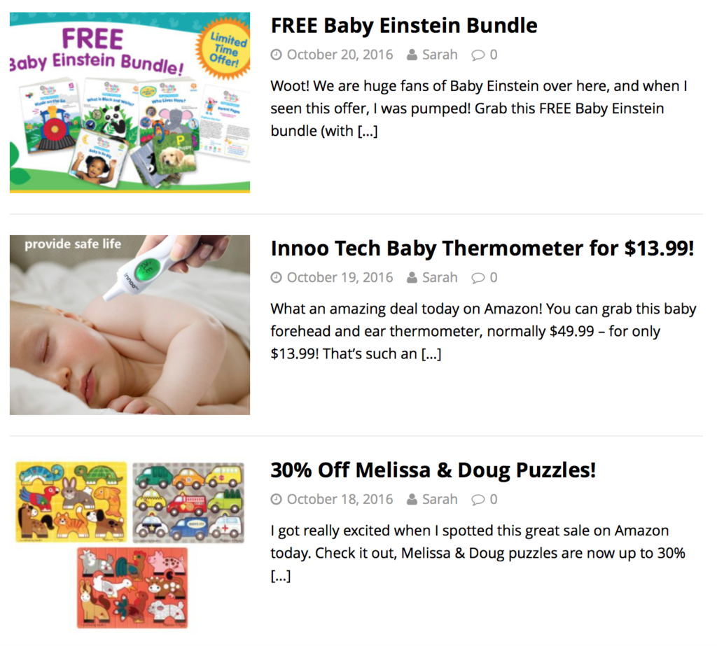 deals on baby items