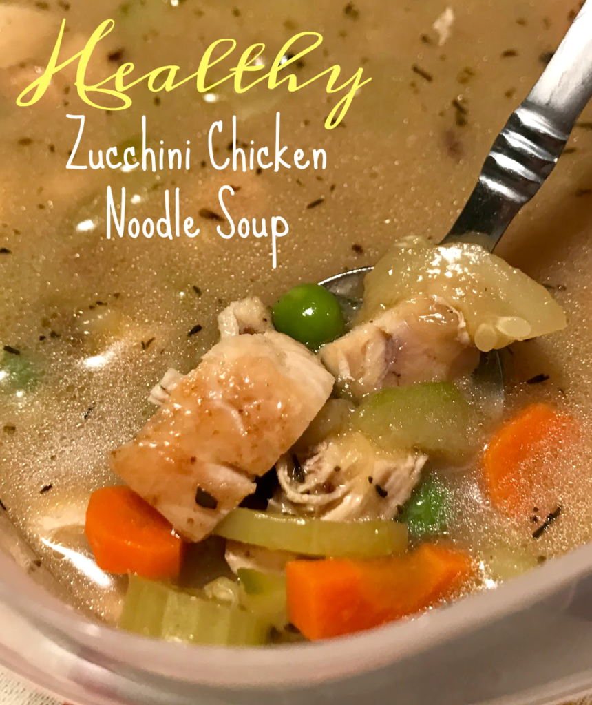 Healthy zucchini chicken noodle soup recipe