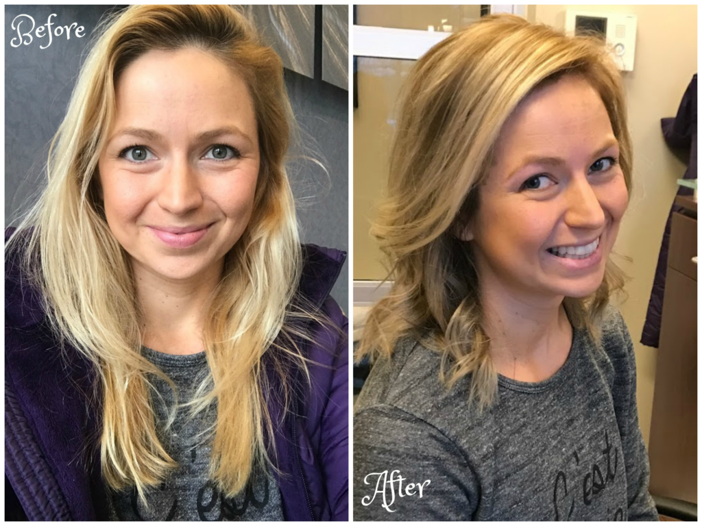 before and after mom haircut