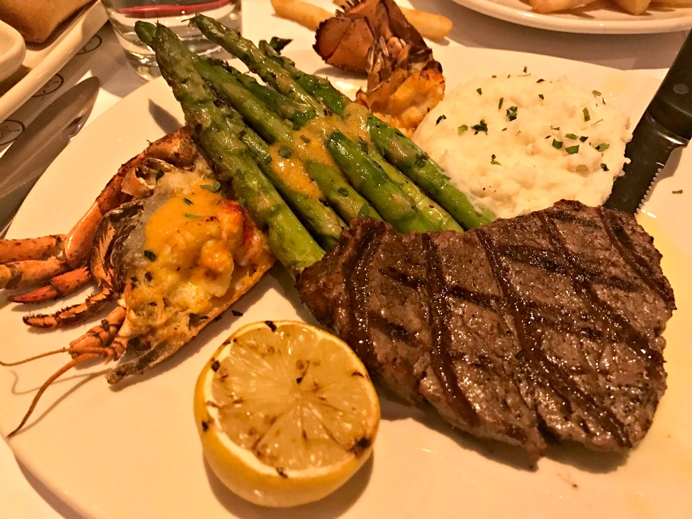 Filet & Lobster Thermidor at Bonefish Grill