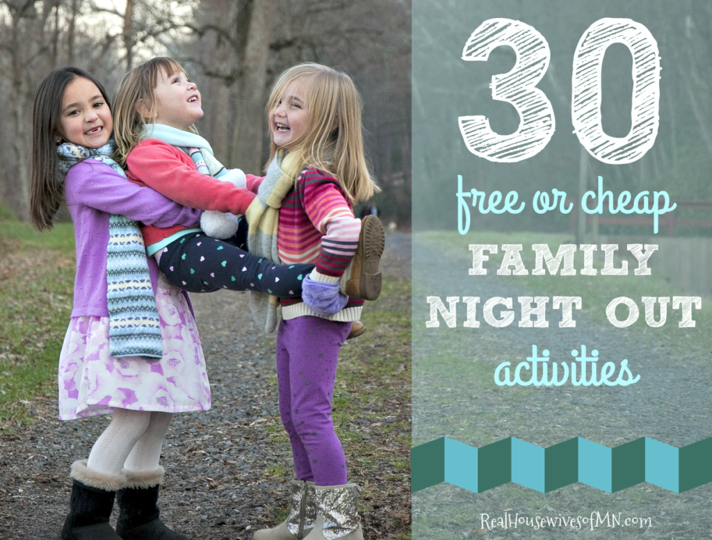 30 free or cheap family night out activities