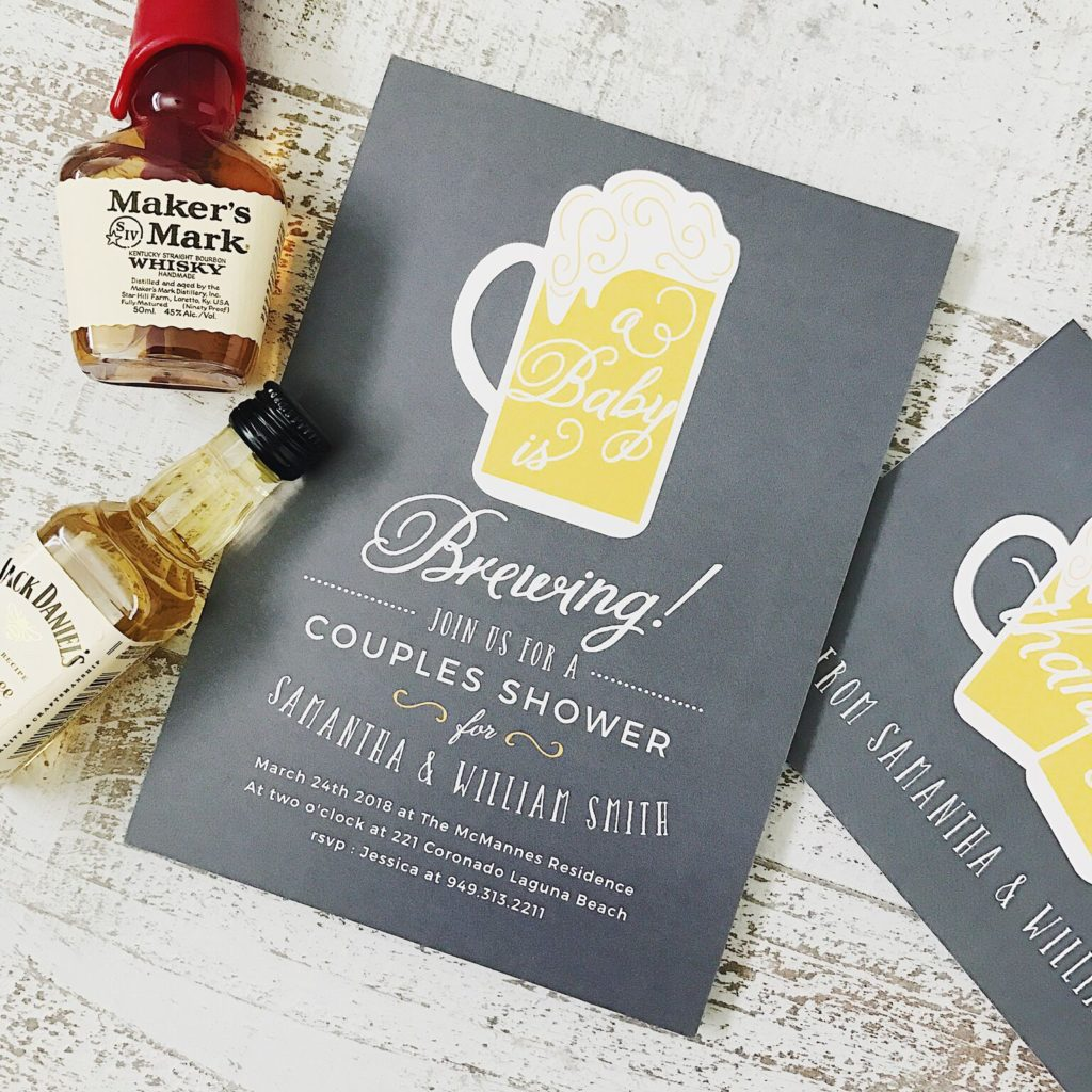 baby is brewing shower invite
