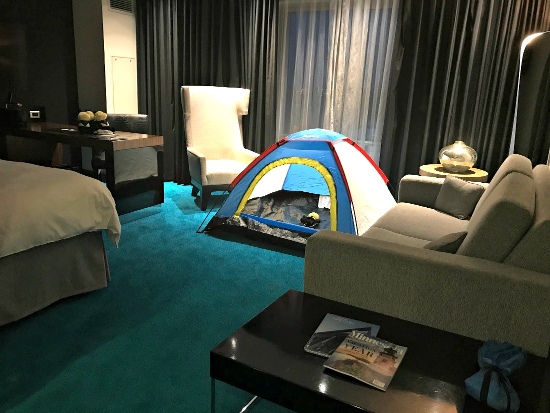 toddler tent Radisson blu stay