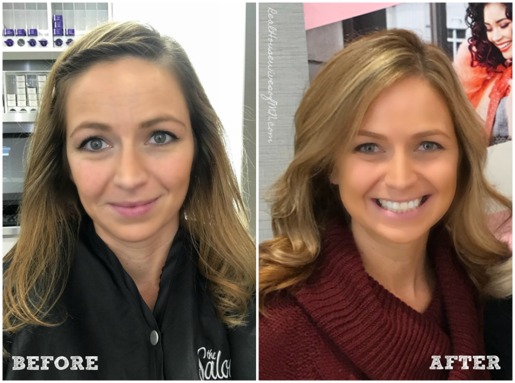 Before and after mom hair