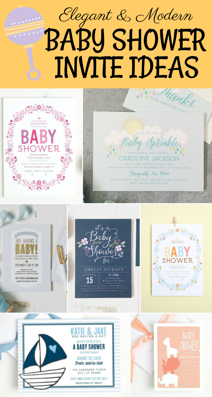 Planning a baby shower custom invites stationery real elegant and modern baby shower invite ideas filmwisefo